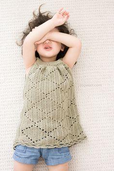 Summer Diamonds Toddler Dress. Written pattern and diagram                                                                                                                                                                                 More