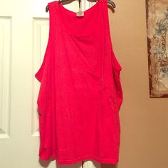 Coral/Red Comfort Colors Tank This is a coral/red comfort colors tank in size XXL. Very comfortable and soft fabric. Comfort Colors Tops Tank Tops