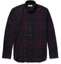 BURBERRY Slim-Fit Checked Cotton-Twill Shirt. #burberry #cloth #casual shirts