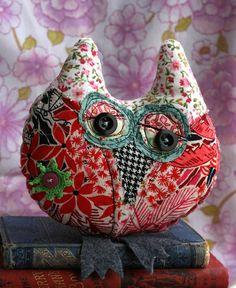 Helga  small stitched owl by DudleyandGrace on Etsy, $14.00