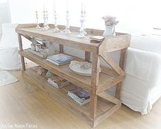 DIY shabby chic console or use as sideboard in dining room