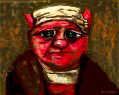 "Rembrandt is my inspiration for ""Self Portrait,"" by Nicole Rubel. www.nicolerubel.com"