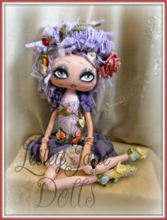 Ivy Teaspring. Collectable Spring Pixie Cloth Doll by Lesley Jane Dolls