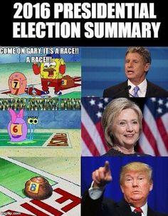 SpongeBob explains the 2016 presidential election.
