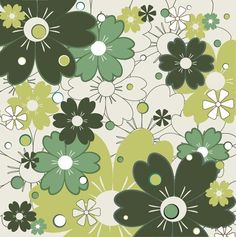 Flowers Pattern Vector Background