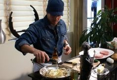 Christian Kane Cooking For New Cooking Show