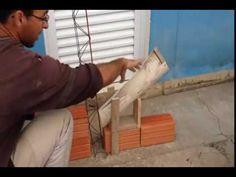 Gabarito para assentar blocos tijolos parede alvenaria como fazer de madeira ,video explicativo ,simples e pratico .