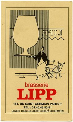 the one and only...brasserie lipp (paris)ate dinner there in June 2000 with my fiance' now husband...fantastic dinner, service and lots of wine...memories....