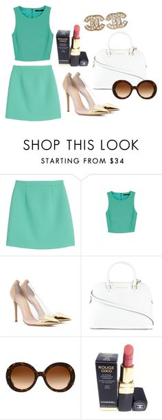 """""""Untitled #338"""" by oychanel ❤ liked on Polyvore featuring McQ by Alexander McQueen, TIBI, Gianvito Rossi, MICHAEL Michael Kors, Prada and Chanel"""