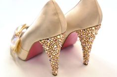 Add rhinestones to your high heels to dress up any outfit for any occasion! We can help you here at Action Fabrics in Westmont, IL Call us at 630-323-1962 or visit our website www.actionfabrics.com