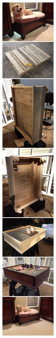 Dog Bed Made from... a pallet