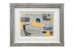 Abstract watercolor drawing, French School. France, circa 1970