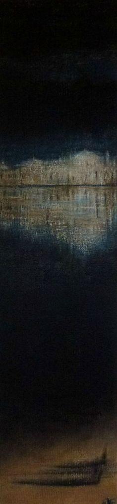 Saya Becuwe Nocturne 2012 acrylique sur isorel 120 x 20,5