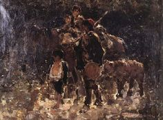 Gypsies with Bear, Nicolae Grigorescu