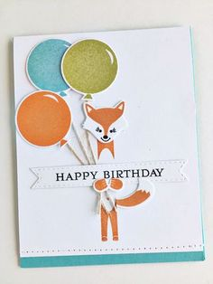 Happy Birthday Card by Heather Nichols for Papertrey Ink (December 2015)