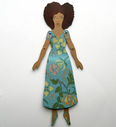 Black Paper Doll, Afro Hair Paper Doll, Natural Hair Paper Doll, Curly Hair Paper Doll, African American Paper Doll, Jointed Paper Doll