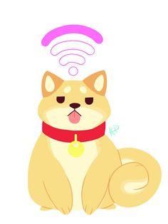 Pom Gets Wifi - Shibe by Kyuupeach