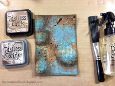 Simon Says Stamp Monday Challenge - Food and/or Drink - Daydreams In Paper Tim Holtz Distress Ink, Distress Markers, Distress Oxide Ink, Distress Ink Techniques, Embossing Techniques, Art Techniques, Timmy Time, Art Journal Tutorial, Art Journal Pages