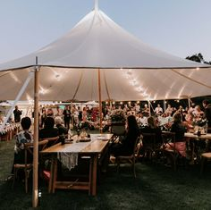 """Elderberry Event Hire on Instagram: """"The single post sailcloth tent, perfect for smaller dining events of 60-90 people or cocktail events of up to 100 guests. Even though this…"""" Sailing Outfit, Small Dining, Tent, Wedding Venues, Cocktails, Concert, People, Beauty, Instagram"""