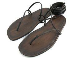 Sandalias de los hombres descalzos hecho a mano por SpartaSandals