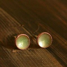 ready to ship Everyday Earrings Enamel Stud by VerreEncore on Etsy, $22.00