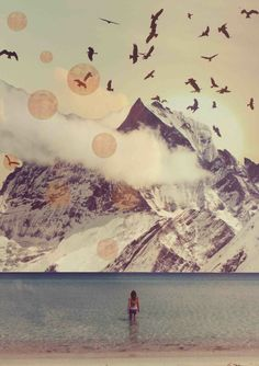 mountain collage art - Google Search