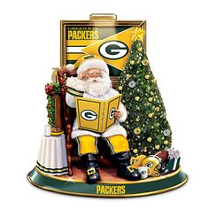 Green Bay Packers Talking Santa Tabletop Centerpiece