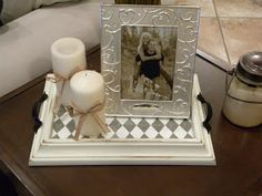 Thrifty and Chic - DIY Projects and Home Decor - picture frame tray :)