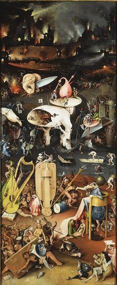 El Bosco - retablo infierno