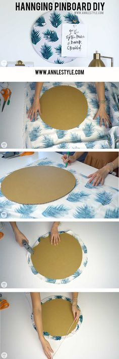 DIY Hanging Pinboard | LifeAnnStyle.com