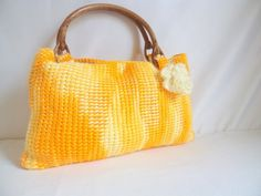 Free ship HANDMADE Variegated yellow and white by modelknitting, $51.00