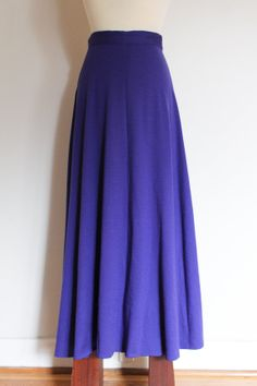 1980s Nordstrom Point of View violet wool skirt by inheritedattire, $38.00