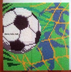 Football (soccer) frame hama perler beads by Deco.Kdo.Nat