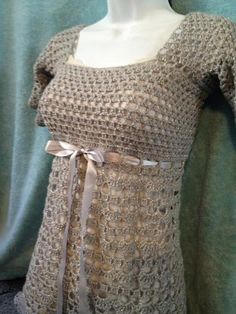Platinum Crochet Top