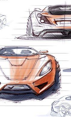 Detroit Electric SP-01 Design Sketches