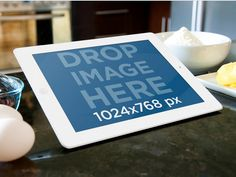 iPad Mockup in the Kitchen. Try it out at: https://placeit.net/#!/stages/white-ipad-at-the-kitchen