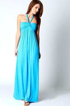 Laura Twist Front Halter Neck Dress ( possible reception dress!????)