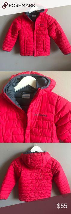 [Columbia] Kids Red Puffer Coat Kids Puffer Columbia Coat- Red/ Grey. Cozy & Warm. Great for winter. No Major wears. Size: XS ( 6 / 7) Columbia Jackets & Coats Puffers
