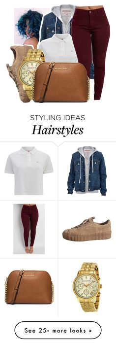 """""""6/8/16"""" by lookatimani on Polyvore featuring True Religion, Lacoste L!VE, Michael Kors and MICHAEL Michael Kors"""