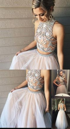 Custom Made Two Piece Prom Dresses,2017 A