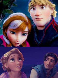 And other 2 important moments, where the boys realized they are in love..♡ Eugene was looking at Rapunzel with a face full of love, and he knew, he wants to be with her..♡ And Kristoff, look at his face again, he is more sad and scared than Anna, when they find out, that Anna is dying.. he loved her so much, and in this moment he realized it..♡