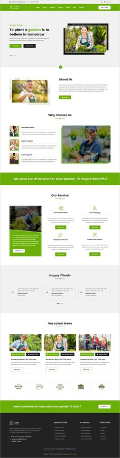 Garden-house is a clean and modern design responsive #HTML #bootstrap template for #gardening and landscaping service website download now➩ https://themeforest.net/item/gardenhouse-gardening-and-landscaping-responsive-html5-template/19542073?ref=Datasata
