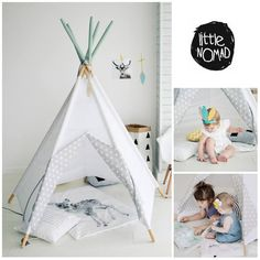 WE.SHIP.WORDWIDE<<  LittleNOMADs teepee is a shelter from sun and wind or little fears. A nook for bookworms. Operations room. A secluded