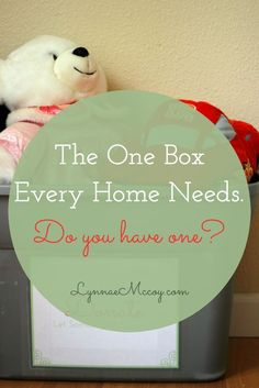 I love the way a donation box makes decluttering an easy and regular part of life!