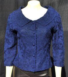 Vintage 60's ribbon mesh short jacket s6 MINT mad by thekaliman