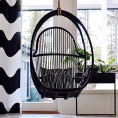 Resultado de imagen para rottinkikeinu Hanging Chair, Photo And Video, Furniture, Instagram, Home Decor, Hammock Chair, Decoration Home, Room Decor, Home Furnishings