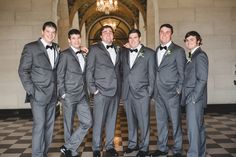 Classy groomsmen! Sally & Jackson's wedding at the Marland Mansion in Ponca City, Oklahoma - Photographed by Jessica Nadine Photography