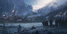 Northen landscape, Sergey Vasnev on ArtStation at https://www.artstation.com/artwork/1Zg0e
