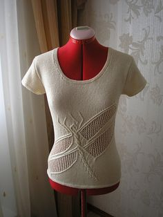 Kaveshichka's Dragonfly.  (A variation on Norah's Dragonfly Pullover for Vogue Knitting)
