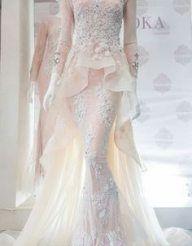 Love the peplum styling of this gowm Muslimah Wedding Dress, Modest Wedding Gowns, Muslim Wedding Dresses, Muslim Dress, Bridal Dresses, Prom Dresses, Formal Dresses, Dress Muslimah, Lace Wedding